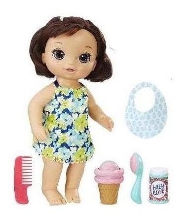 Boneca Baby Alive Sobremesa Magica Morena Hasbro C1089 11973