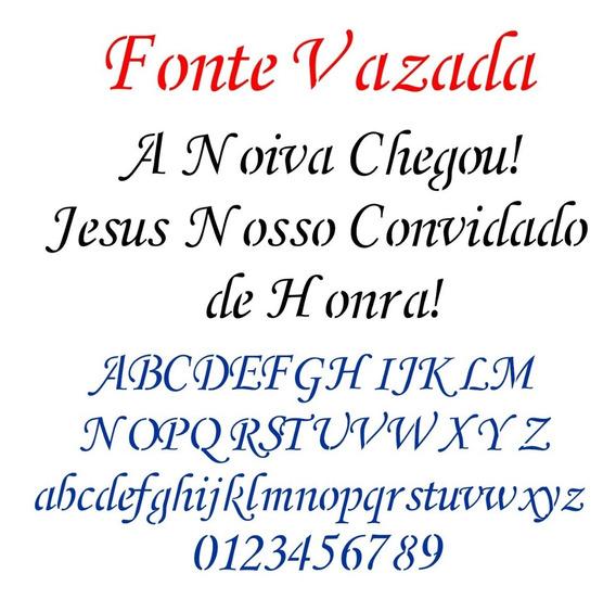 Fonte Letra Vazada Para Corte A Laser Monotype Vazada