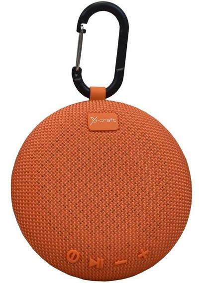 Caixa De Som Bluetooth X-craft X5 Laranja 5w Resistente À Ã
