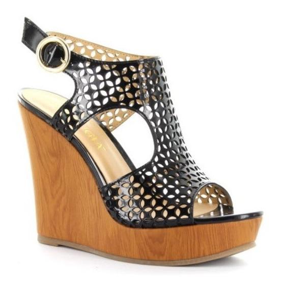 Sandalias Dama Plataforma Negros Moda Mujer Zapatos Tacón Co