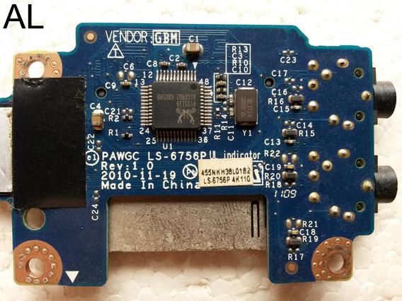 Placa Som Audio Fone Sd Micro Lenovo G470 G475 G570 G575