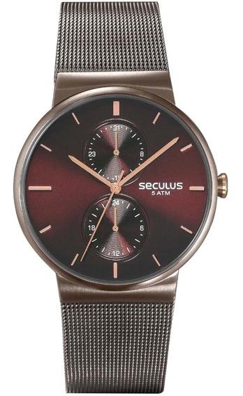 Relógio Masculino Seculus Analógico 13035gpsvua1 - Grafite