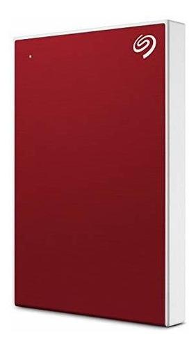 Disco Duro Externo Seagate Portátil De 1 Tb Plus Slim, Rojo