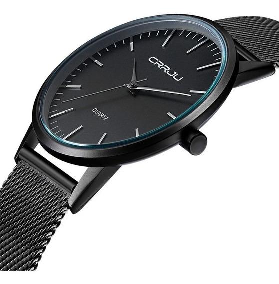 Relógio Pulso Masculino Luxo Casual Aço Inoxidável Militar