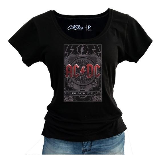 Camiseta Baby Look Feminina Acdc Banda Rock Melhor Preço