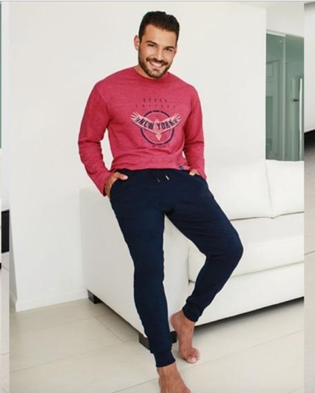 Pijama De Hombre Pantalon Chupin Con Cordon - Tipico 890