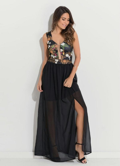 Lindo Vestido Festa Plus Size Longo Modelos Tule Renda Luxo