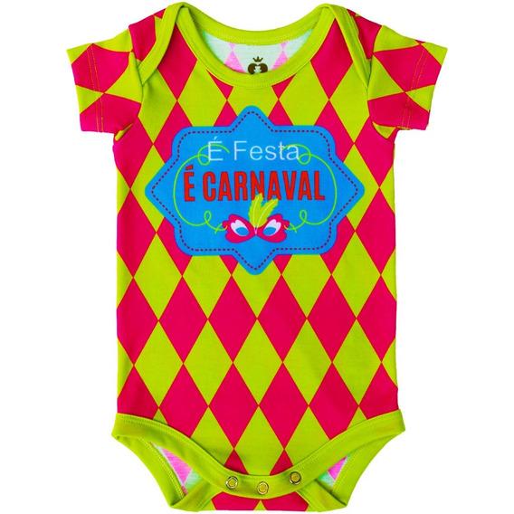 Body Bebê Estampado Carnaval - Isabb
