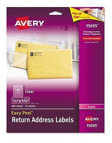Ave15695 - Etiqueta De Dirección De Devolución De Avery Easy