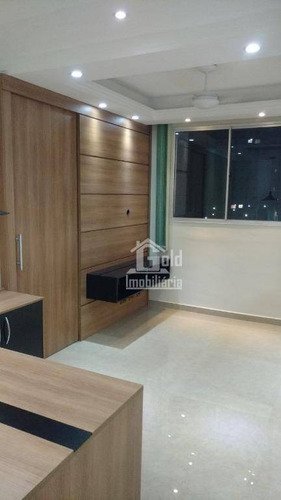 Apartamento Com 2 Dormitórios Para Alugar, 48 M² Por R$ 1.150,00/mês - Reserva Sul Condomínio Resort - Ribeirão Preto/sp - Ap3160