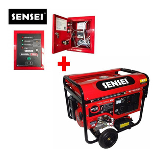 Generador Sensei 6,5 Kva A/e + Tablero De Transferencia