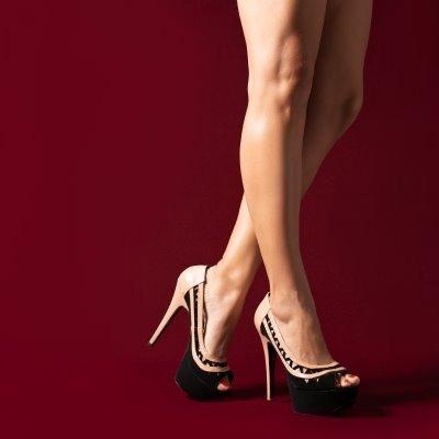 Sapato Peep Toe Com Meia Pata Ref436