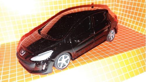 Autito En Escala 1.43 Peugeot 308, Negro