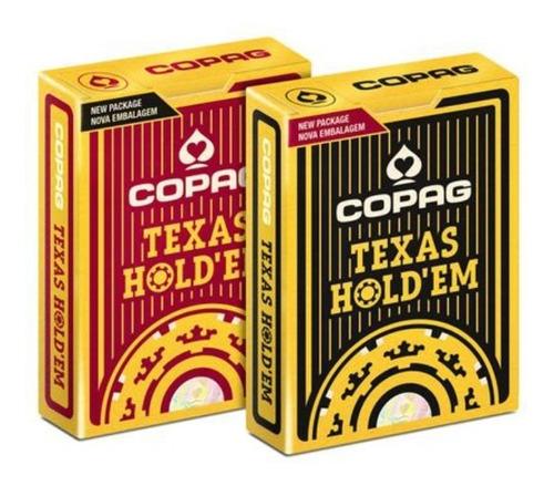 Imagem 1 de 5 de 2 Baralhos Copag Texas Hold'em Poker Original Profissional
