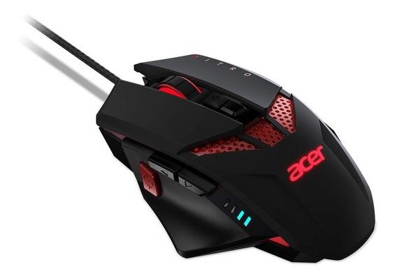 Mouse Gamer Acer Nitro 4.000 Dpi Com Iluminação Ajustável E