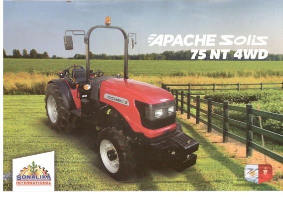 Tractor Apache Solis 75 Nt 4wd Compacto Viñatero
