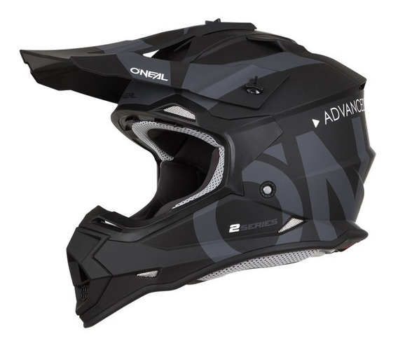 Casco Oneal Series 2 Slick Negro Motocross Enduro Mtb 2019