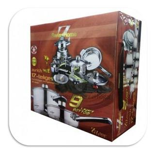 Swiss/home Bateria 17 Pzas Acero Quirurgico T304 9 Capas