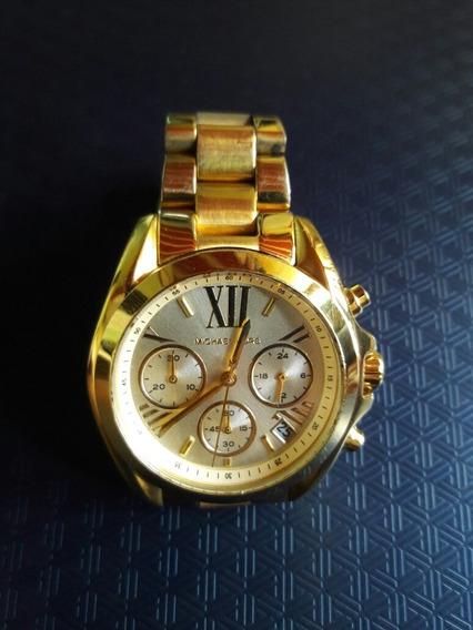 Relógio Michael Kors Dourado Mk5798 Original Usado