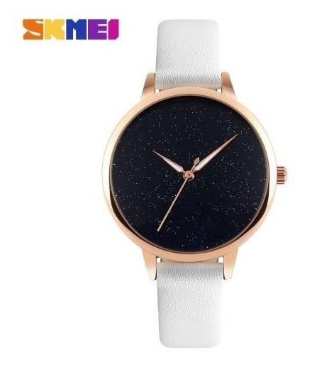Relógio Feminino Luxo Prova Da Água Skmei 9141