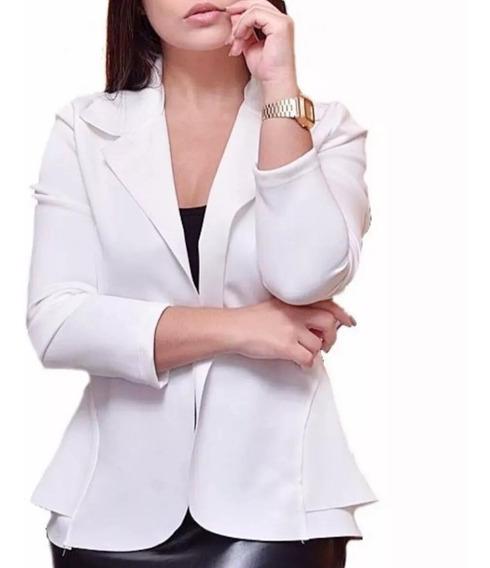Blazer Neoprene Feminino Promoção Plusizes Do P Ao G3 Lindo