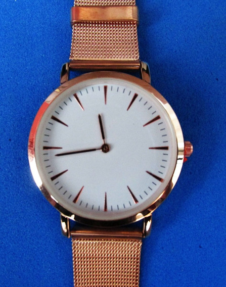 Relógio Luxury Stainless Steel Watch Quartz Bracelet Wrist