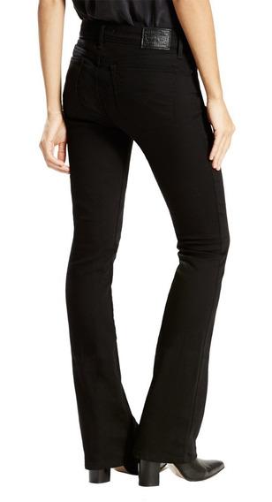 Jean Pantalon Levis 715 Bootcut Negro Oxford Mujer Nuevo T30