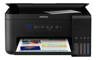 Impresora a color multifunción Epson EcoTank L4150 con wifi 110V negra
