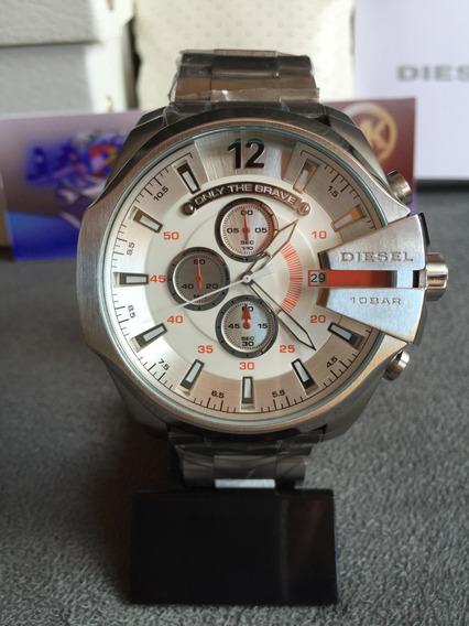 Relógio Diesel Dz4328 Prata Original Completo Com Caixa