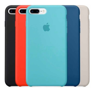 Capinha Silicone iPhone 7/8 Plus + Película De Vidro
