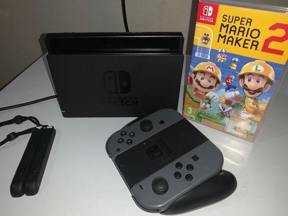 Nintendo Switch Gray 32gb + Super Mario Maker 2