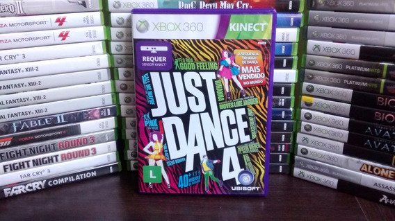 Just Dance 4 Kinect Completo - Xbox 360 Ntsc Frete R$12