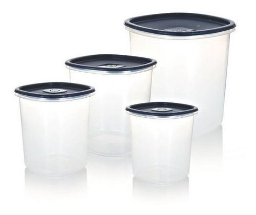 4 unidades Tapas para almacenar alimentos dressplus