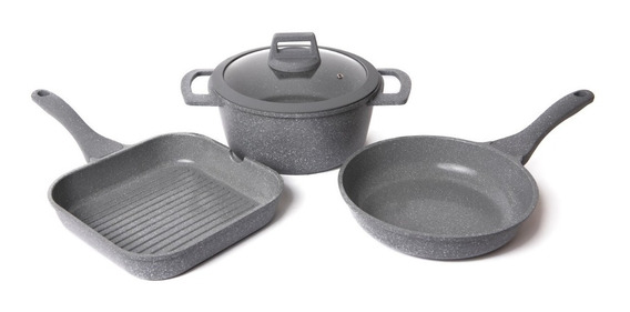 Maestro De Cocina-set Cerámica Sarten Cacerola & Bifera 24cm