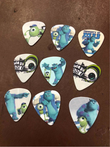Imagen 1 de 1 de Picks Guitarra Monster University Pack De 9