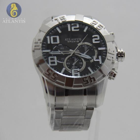 Relógio Masculino Quartz Social Sport Atlantis Original Dour