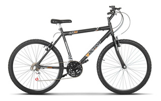 Bicicleta Bike Ultra Masculino Aro 26 Preto Fosco