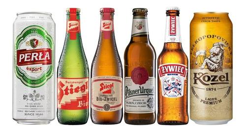 6 Pack De Cervezas Lager De Europa.