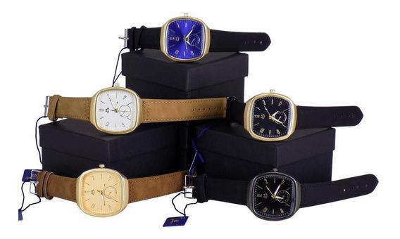 Kit 5 Relógios Masculino Orizom Analógico Dourado E Prata