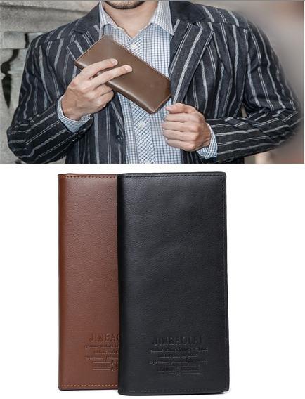 Elegante Billetera Tarjetero Ejecutivo Largo Para Hombre
