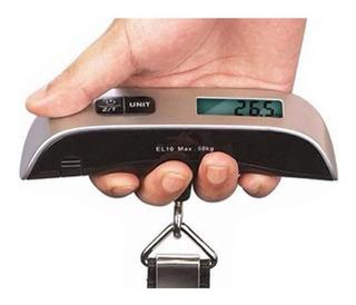 Pesa Balanza Digital Maleta De Viaje Para Colgar Hasta 50kg