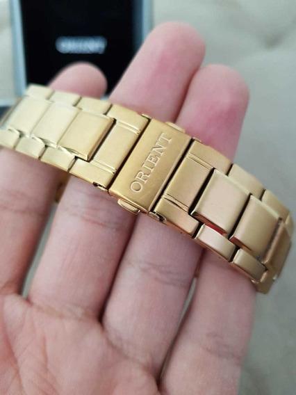 Relógio Feminino Orient Dourado Original Muito Novo Barato