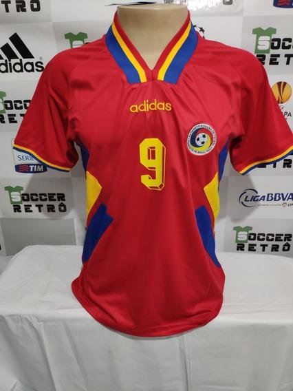 Camisa Romenia Away Copa Do Mundo 1994 Raducioiu 9 À Pronta Entrega