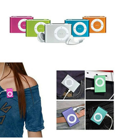 13 Mini Mp3 Player Shuflle Fone Entrada Micro Sd Cabo Usb