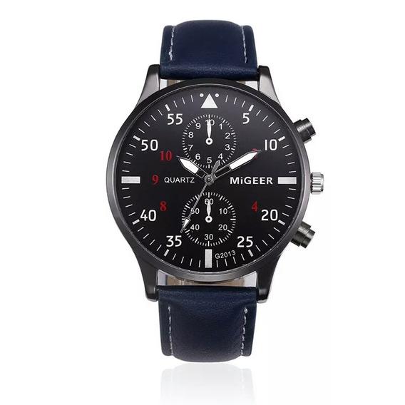 Relógios Homens Design Retro Liga Pulseira De Couro