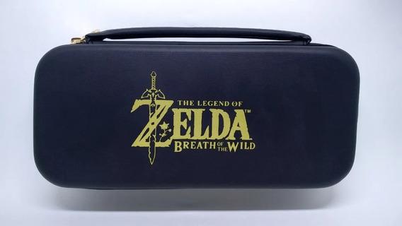 Case Travel Zelda Para Nintendo Switch + 2 Grips Analógicos