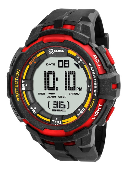 Relógio X-games Masculino Digital Xmppd352 Bxpx Vermelho