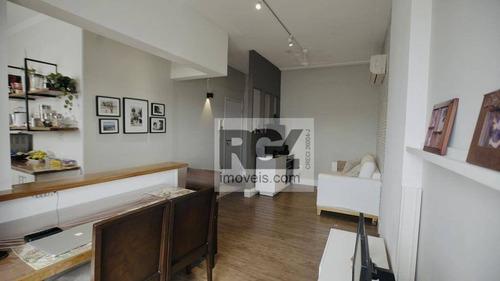 Imagem 1 de 30 de Apartamento À Venda, 60 M² Por R$ 524.000,00 - Macuco - Santos/sp - Ap7956