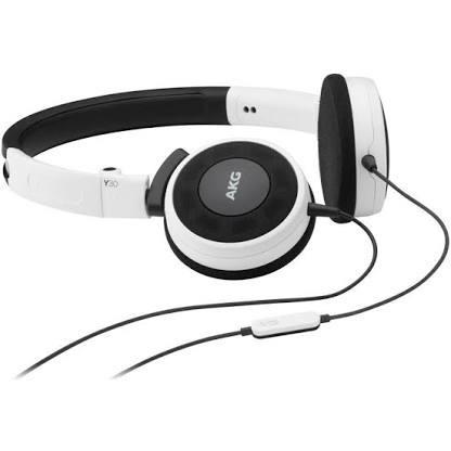 Headphone Akg Y30 Branco E Preto C\ Microfone 3 Meses De Uso