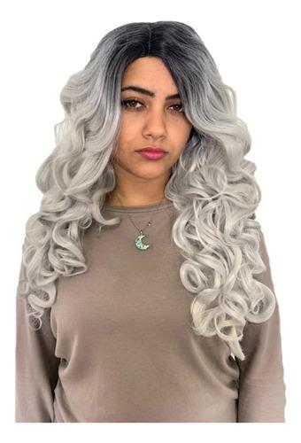 Peruca Front Lace Wig Lisa Preta Repartição Livre + Touca